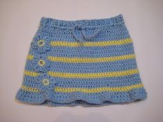 My first crochet skirt - very easy - the pattern is here:  http://ema-decorations.blogspot.com/2012/03/crochet-skirt-pattern-for-5-6years-girl.html