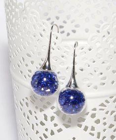 Boucles d'oreilles globes en verre remplies de perles