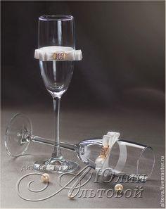 """Бокалы свадебные """"В стиле ретро"""" - свадебные бокалы,купить свадебные бокалы"""