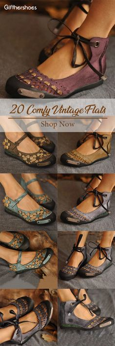 SHOP Comfy Vintage Flat Shoes for Your Daily Outfits Must Have It! is part of fashion - fashion New Shoes, Flat Shoes, Cute Shoes, Me Too Shoes, Vetements Clothing, Vintage Shoes, Fashion Shoes, Fashion Fashion, Shoe Boots