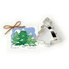 "The 4 1/8"" Ann Clark Christmas Tree Cookie Cutter feels like Christmas morning. Makes an excellent stocking stuffer or Secret Santa gift, and could be used all season. Made in the USA."
