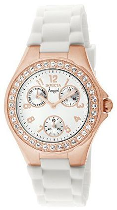 Invicta Womens 1646 Angel Jelly Fish CrystalAccented 18k Rose GoldPlated Watch *** Visit the image link more details. (This is an Amazon affiliate link)