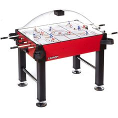 Carrom Signature Stick Hockey w/legs Red