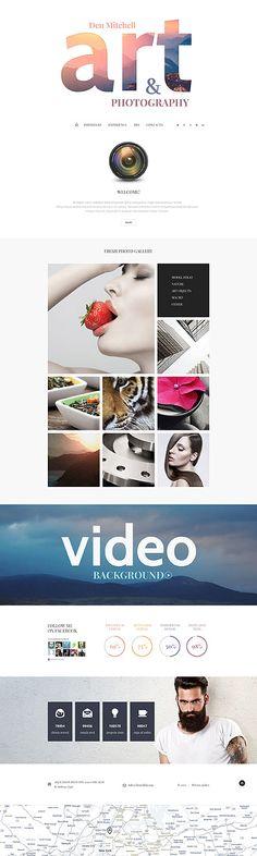 Art & Photography Portfolio Website #Joomla #template. #themes #business #responsive #Joomlathemes