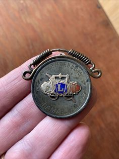 ANTIQUE HAND MADE Odd Fellows Woodsman Coin Watch Fob Anderson MO L@@K Folk Art - $79.99. FOR SALE! Antique hand-made watch fob with a coin or token, engraved with the name H. L. Anderson, Lamar, MO. The front side has a FLT ring pin or badge that was soldered on, enamel and may be gold, scales of justice and a sword. The reverse is another pin that was 274825951169