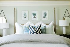 Soothing Blue & Gray Master Bedroom I House of Jade Interiors
