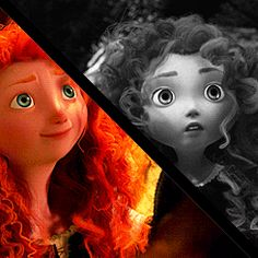 Older and younger: Merida