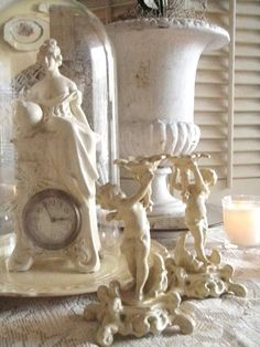 creamy white vignette~remember, you can paint it white, even if it is already white....just make it prettier!