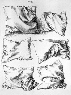 #CharcoalDrawing - Pillows by Albrecht Durer. Learning this skill = a big development in drawing ability.