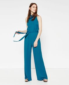 5d5d851fb0a Image 1 of JUMPSUIT WITH TIE BELT from Zara Professional Outfits