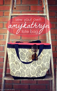 Sew Your Own amykathryn Tote Bag by Jessica Hill from @Mad in Crafts