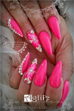 Want some ideas for wedding nail polish designs? This article is a collection of our favorite nail polish designs for your special day. Pink Nail Designs, Gel Designs, Nail Polish Designs, Acrylic Nail Designs, Nails Design, Pink Design, Neon Design, Design Design, Design Ideas
