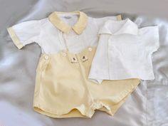 Ropa vintage para bebé Traje amarillo para bebé niño y camisa de marinero Vintage Baby Boys, Vintage Baby Clothes, Vintage Outfits, Vintage Children, Vintage Clothing, Baby Boy Outfits, Kids Outfits, Sailor Shirt, Moda Vintage