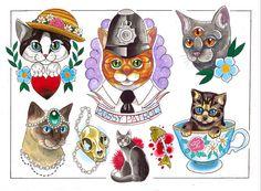 Cat Flash Print by ashleyluka on Etsy, £10.00