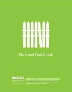 Parkway Orthodontics Print Campaign (w/ Fresh Produce) by Lyndsey Kastein, via Behance