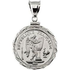 Sterling Silver Coin Lucky Angel Pendant.  List Price: $200.00  Sale Price: $120.00  Savings: $80.00