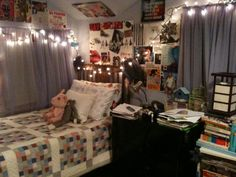 lights and quilt