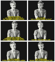 Jennifer Lawrence on tripping while walking up to accept her Oscar. She's so dang lovable!!