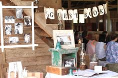 Country vintage wedding decor