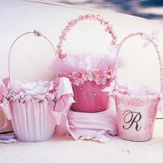 "what little girl would not love to carry these?  Love them!  That one with the ""R"" is a little pail!"