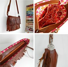 Boho Leather Fringe Bag Tutorial | Sew Mama Sew | Outstanding sewing, quilting, and needlework tutorials since 2005.