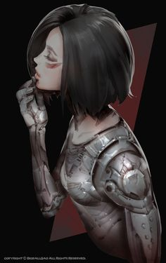 Alita: Battle Angel is a movie starring Rosa Salazar, Christoph Waltz, and Jennifer Connelly. A deactivated female cyborg is revived, but cannot remember anything of her past life and goes on a quest to find out who she is. Battle Angel Alita, Manga Girl, Manga Anime, Anime Art, Cyberpunk Character, Cyberpunk Art, Alita Movie, Character Inspiration, Character Art