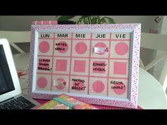 Cómo hacer un organizador semanal para la escuela. Manualidades para la ...