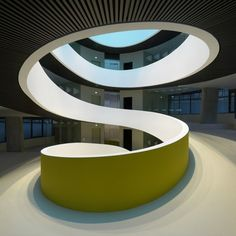 Cocoon by Camenzind Evolution - spiral staircase, organic shapes, smooth interior architecture