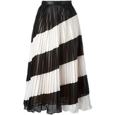 Marco De Vincenzo - leather effect pleated skirt - women - Polyester -... ($1,040) ❤ liked on Polyvore featuring skirts, black, marco de vincenzo, genuine leather skirt, knee length pleated skirt, leather skirt and real leather skirt