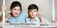 Yep siblings can be a pain. A true joy as well. Nothing however can replace them, so love 'em  #NationalSiblingsDay