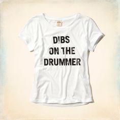 Girls Dibs on the Drummer Shine Graphic T-Shirt | Girls Tops | HollisterCo.com