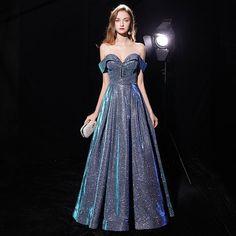 83a77297c93 Off Shoulder Sweetheart Glitter Prom Dress. The Dress Rail Boutique