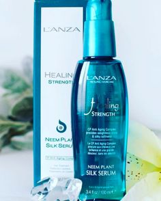 L'ANZA Neem Plant Silk Serum gives your hair instant softness & shine without weight or oily residue. And it provides full thermal protection against heat!