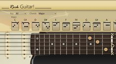 Rock Guitar // After Play Guitar!, Rock Guitar! is now available on Windows Store. RockGuitar! turns your Windows 8 machine into an awesome electric guitar. You can press and strum strings, just like a real guitar. Even you can bend the guitar strings! Rock Guitar! helps you learn what notes lie on the frets of the guitar. It is a very useful tool for every aspiring guitarist.