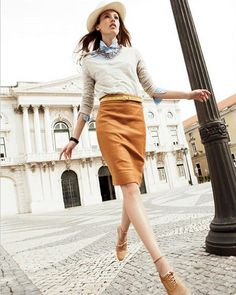 I'm really lovin' the menswear + pencil skirt style these days.