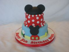 Mini Mickey Mouse cake. 6inch and 4inch cakes.