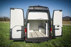 Van Conversion Interior, Vw Crafter, Campervan, Van Life, Vr, Motorhome, Offroad, Garage, Van