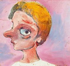 Self portrait, by Charles Blackman :: The Collection :: Art Gallery NSW Picasso And Braque, Australian Artists, Face Art, Art Gallery, Portraits, Drawings, Selfies, Artwork, Faces