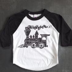 Train Shirt for Kids Toddler Train Shirt by honeybeeskneesshop