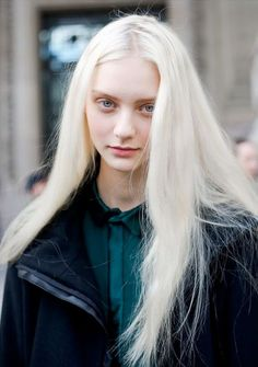 We've gathered our favorite ideas for Nastya Kusakina By Giacomo Cabrini Long Beautiful Hair, Explore our list of popular images of Nastya Kusakina By Giacomo Cabrini Long Beautiful Hair in long white blonde hair. White Blonde, White Hair, Gray Hair, Pale Skin Blonde Hair, Pale White, Lilac Hair, Pastel Hair, Modelo Albino, Beauty Skin