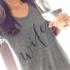 This is how we rock our Wifey tee... Have you gotten yours at 25% off yet? Use Code: 48HOURS {Shop apparel in Bio Link} ( @brandimbarrera) #wifey #sale