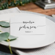 Printable Place Card Wedding Place Cards Template Place Card - Place card setting template