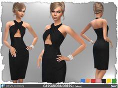 Cassandra Dress by Devilicious at TSR via Sims 4 Updates