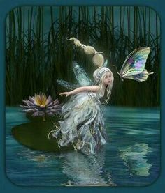 ≍ Nature's Fairy Nymphs ≍ magical elves, sprites, pixies and winged woodland faeries - Fairy Dust, Fairy Land, Fairy Tales, Fantasy Kunst, Fantasy Art, Fantasy Fairies, Elfen Fantasy, Kobold, Fairy Pictures