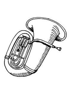Bassoon Coloring Page