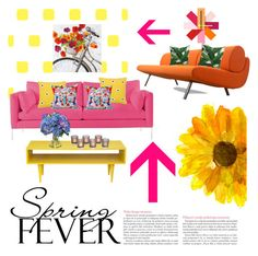 """""""Spring"""" by janicevc on Polyvore featuring Ballard Designs, Kate Spade, Diane James, Normann Copenhagen and springflorals"""