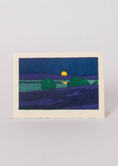 August Moon by Arthur Wesley Dow (on a Saturn Press card)