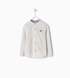 Рубашка в крапинку-Рубашки-Мальчики | 4-14 лет-ДЕТИ | ZARA Российская Федерация