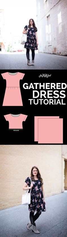 Gathered Dress Tutorial from the Zippy Pattern!   sewing patterns   clothing patterns and ideas   how to sew a gathered dress   how to sew a dress   sewing tips and tricks   DIY clothing   homemade clothing patterns    see kate sew