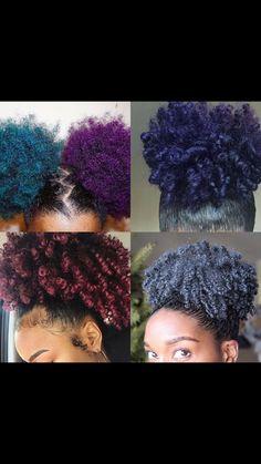 Photo - Google Photos Dyed Natural Hair, Natural Hair Tips, Natural Hair Styles, Pelo Afro, Hair Dye Colors, Purple Hair, Ombre Hair, Gorgeous Hair, Cute Hairstyles